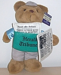 Martin Luther King Slain Headline Bear 13 In. Orig. Tags 1980s
