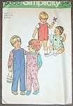 1972 Simplicity #5050 Toddler Play Clothes Size 4