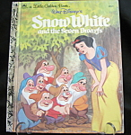 Snow White And The Seven Drawfs Golden Book