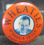 Wheaties O'doul-seals Pin Back