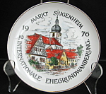Germany Houses With Church Steeple Collector Plate