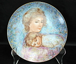 Knowles Hibel Abbey And Lisa Collector Plate
