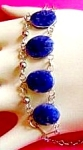 Blue Sodalite Bracelet: Genuine Gemstones: Natural