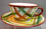 Vernon Homespun Tea Cup And Saucer
