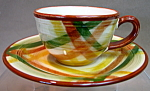 Vernon Homespun Demitasse Cup And Saucer