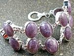 Lavender Purple Sugilite Bracelet Sterling Silver Jewelry