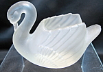 Frosted Swan Figurine