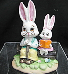 Lefton Rabbits Figurine