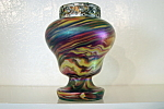 Czech Glass Vase With Flower Frog