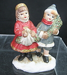 Christmas Children Miniature Figurine