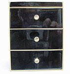 Otagiri Black Lacquer Jewelry Box