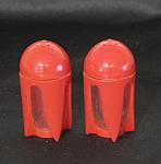 Red Plastic Rockets