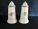 Village Salt And Pepper Shakers