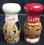 Wood Chefs Salt And Pepper Shakers