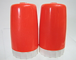 Red Plastic Salt And Pepper Shakers