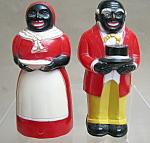 Black American Salt And Pepper Shakers