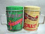 Tin Range Top Salt And Pepper Shakers