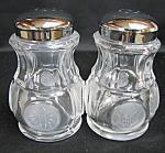 Avon Fostoria Coin Salt And Pepper Shakers