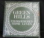 Green Hills Embroidered Irish Linen Table Cloth