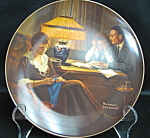 Knowles Rockwell Father's Helper Collector Plate