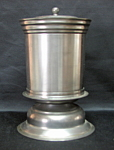Pewter Covered Cylinder