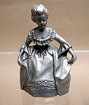 Pewter Old Fashion Woman Figurine