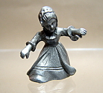 Pewter Old Fashion Girl Figurine