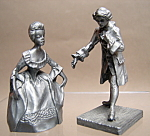 Pewter Man And Woman Dancers Figurine