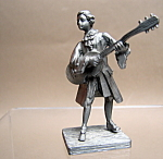 Pewter Mandolin Player Figurine