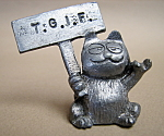 Pewter Garfield Cat
