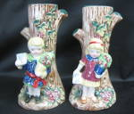 Japan Boy And Girl Vases