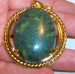 Xl Jasper Protection Pendant Yellow Gold Plated Jewelry