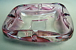 Pink Glass Ash Tray