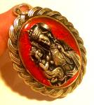 Large Vintage St Ann Virgin Mary Pendant Saint Anne Medal