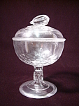 Antique Glass Nut Compote