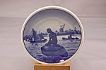 Flow Blue Mermaid Miniature Collector Plate