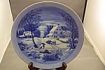 The Homestead In Winter Collector Plate