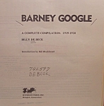 Vintage Books: Barney Google Comic Strip Collection - Out Of Print