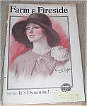 Haskell Coffin Vintage Magazine Art Lady In Big Floppy Hat