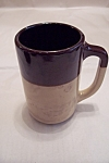 Large Vintage Pottery Beer Mug