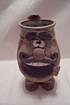 Handmade Art Pottery Novelty Figural Mug