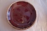 "Hull 10-1/2"" Brown Drip Pattern Dinner Plate"
