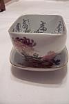 Vintage Kutani Porcelain Tea Bowl & Saucer