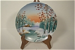 Hand Painted Winter Scene Collecor Plate