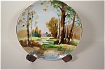 Forest Scene Hand Painted Occupied Japan Plate