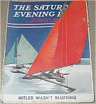 Winter Ice Sailing Post Magazine Cover By Ski Weld 1939