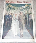 Vintage Ladies Home Journal Cover Bride Groom Wedding H Brett