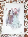 Antique Postcard American Beauties Man Lady Roses Romance