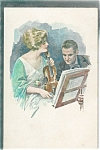 Artist Signed Postcards: Music: Violin: Romance: Lady & Man