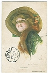 Artist Signed Postcard Philip Boileau Haughtiness Lady Hat